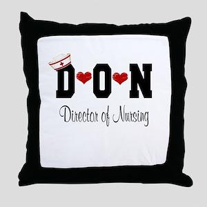Director of Nursing (DON) Throw Pillow