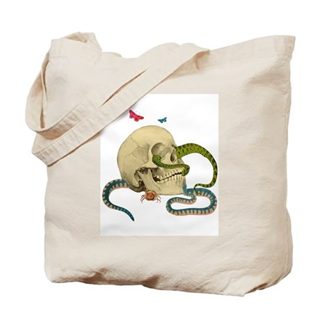 Skull And Snakes Tote Bag