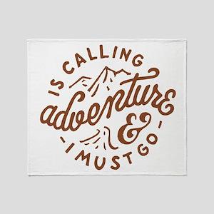 Adventure is Calling Throw Blanket