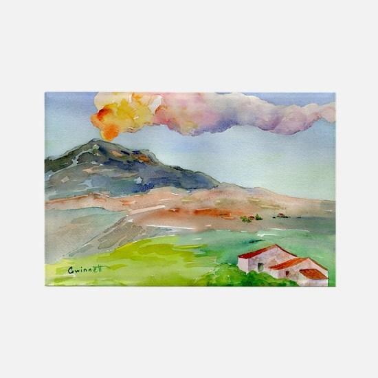 Mt Etna Rectangle Magnet