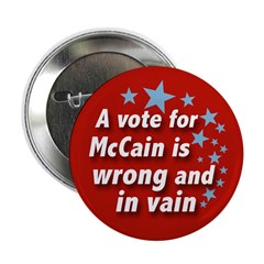 McCain in Vain Ten Pack of Buttons