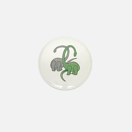 Two Dinosaurs Mini Button