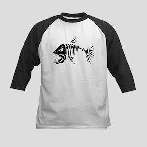 Scary fish Baseball Jersey