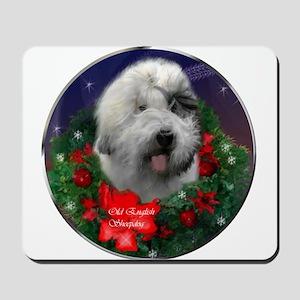 Old English Sheepdog Christmas Mousepad