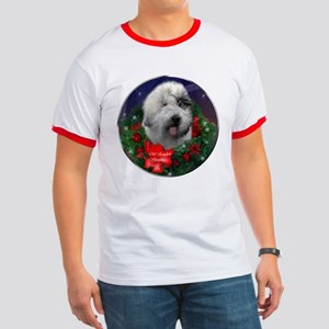 Old English Sheepdog Christmas Ringer T