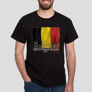 Silky Flag of Belgium Dark T-Shirt