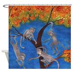Monkey Gymnastics Shower Curtain