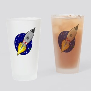 Space Ship Drinking Glass