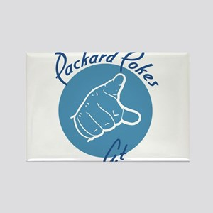 Packard Pokes At No white Circle Rectangle Magnet