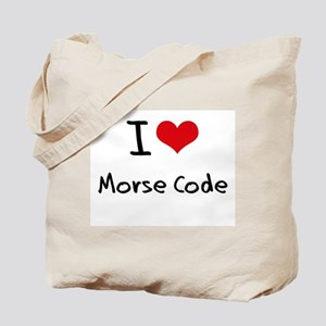 I Love Morse Code Tote Bag