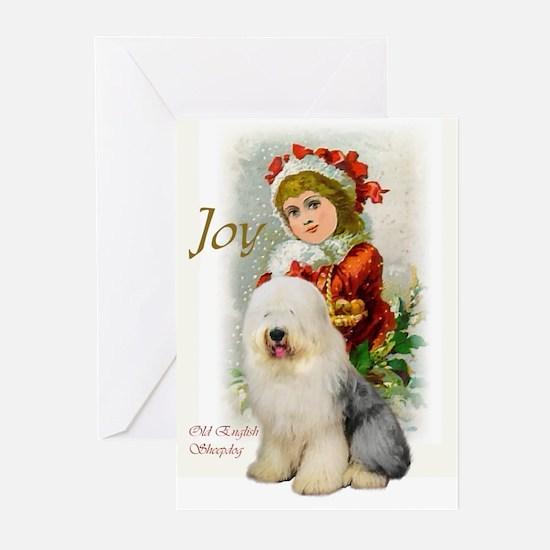 Old English Sheepdog Chr Greeting Cards (Pk of 20)