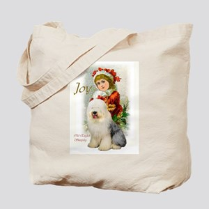 Old English Sheepdog Christmas Tote Bag