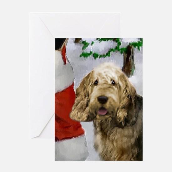 Otterhound Christmas Greeting Card