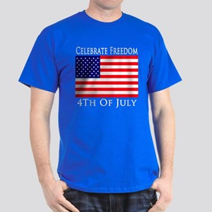 Celebrate Freedom 4th of July Dark T-Shirt
