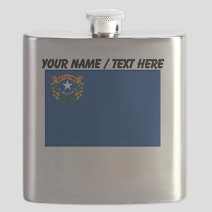 Custom Nevada State Flag Flask