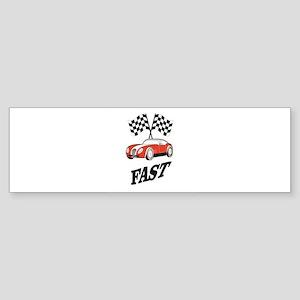fast and faster Bumper Sticker