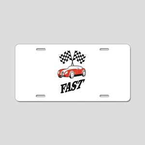 fast and faster Aluminum License Plate