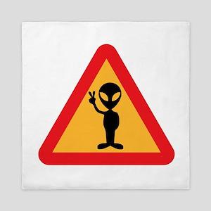 Space Alien Sign Queen Duvet