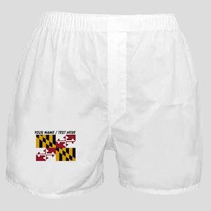 Custom Maryland State Flag Boxer Shorts