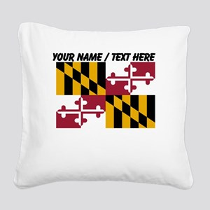 Custom Maryland State Flag Square Canvas Pillow