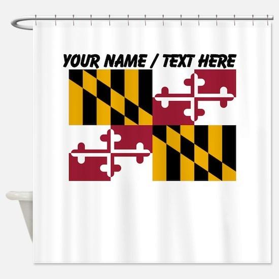 Custom Maryland State Flag Shower Curtain