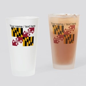 Custom Maryland State Flag Drinking Glass