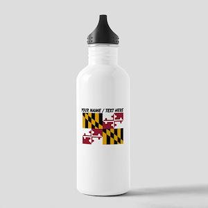 Custom Maryland State Flag Water Bottle