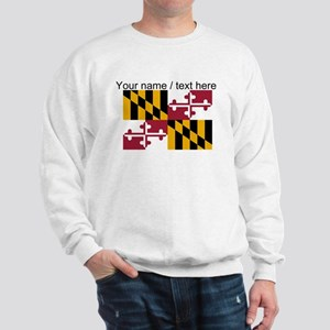 Custom Maryland State Flag Sweatshirt