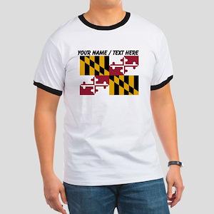 Custom Maryland State Flag T-Shirt