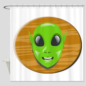 Alien Plaque Shower Curtain