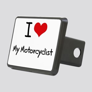 I Love My Motorcyclist Hitch Cover