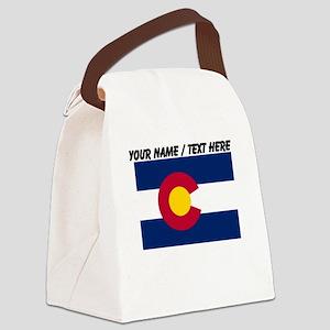Custom Colorado State Flag Canvas Lunch Bag