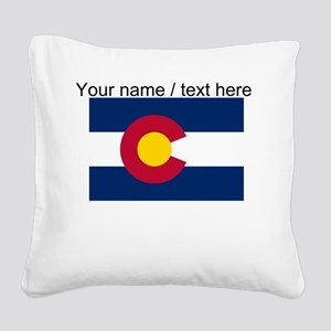 Custom Colorado State Flag Square Canvas Pillow