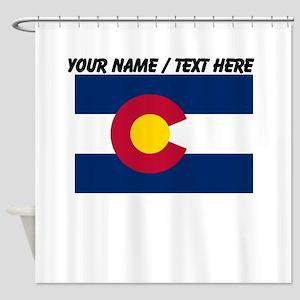 Custom Colorado State Flag Shower Curtain