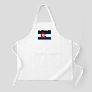 Custom Colorado State Flag Apron