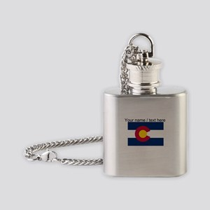 Custom Colorado State Flag Flask Necklace