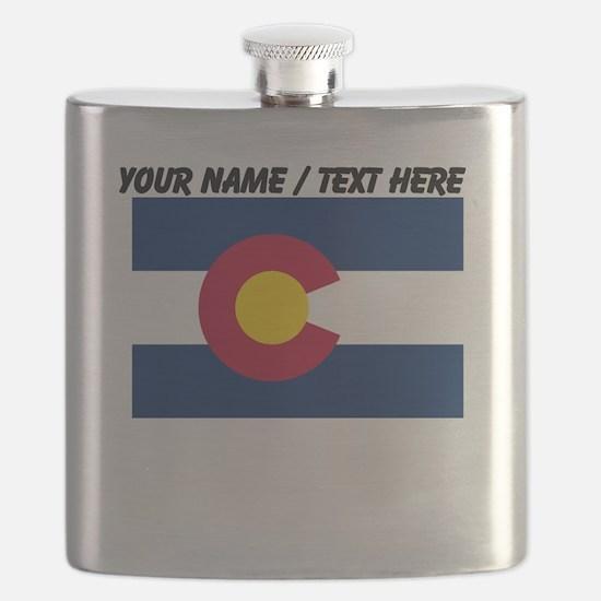 Custom Colorado State Flag Flask