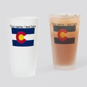 Custom Colorado State Flag Drinking Glass