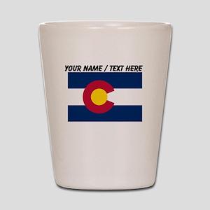 Custom Colorado State Flag Shot Glass