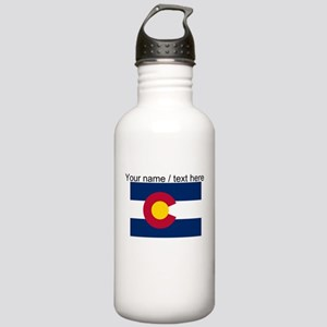 Custom Colorado State Flag Water Bottle