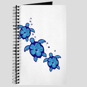 Blue Hibiscus Honu Turtles Journal
