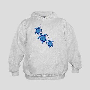Blue Hibiscus Honu Turtles Hoodie