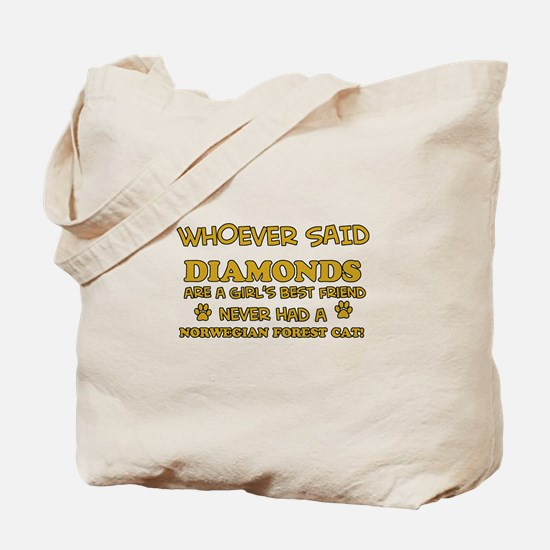 Funny Norwegian Forest Cat designs Tote Bag