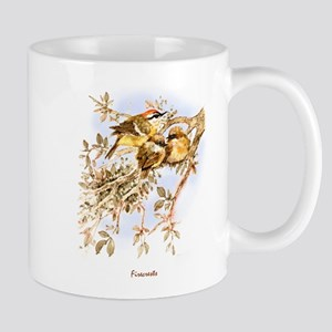 """Birds and Young""""Firecrests"""" Peter Bere Design Mug"""