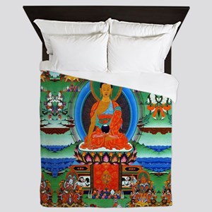 Colorful Buddha Queen Duvet