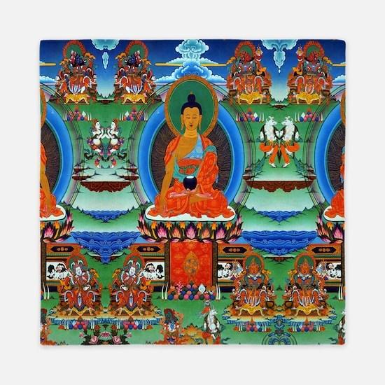 Colorful Buddha Queen Duvet