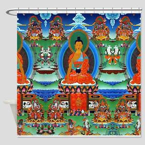 Colorful Buddha Shower Curtain