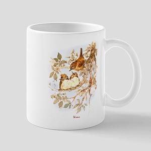 """Birds and Young """"Wrens"""" Peter Bere Design Mug"""
