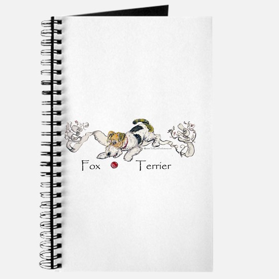 Playful Fox Terrier Journal