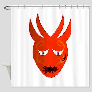 Red Devil Monster Shower Curtain